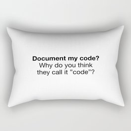Document my code Rectangular Pillow