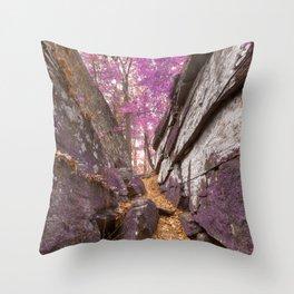 Gettysburg Grotto - Lavender Fantasy Throw Pillow