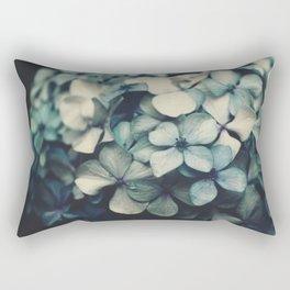 blue hydrangea Rectangular Pillow