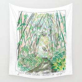 Bamboo Cathedral Sketch - San Marino CA Wall Tapestry