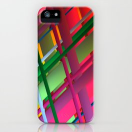 Striping Confusion iPhone Case