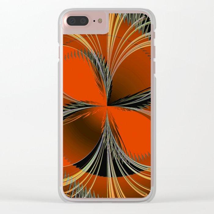 Vision In Orange Clear iPhone Case