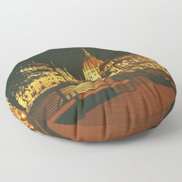 Budapest by night  Floor Pillow