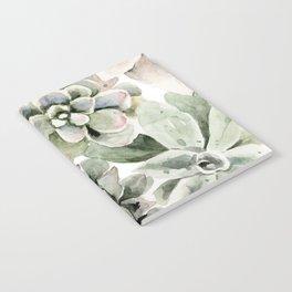 Circular Succulent Watercolor Notebook