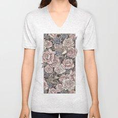 Flowers & Swallows Unisex V-Neck