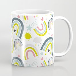 Rainy Rainbows Modern Pattern Coffee Mug