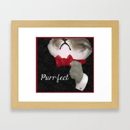 The Purr-fect Attire Framed Art Print