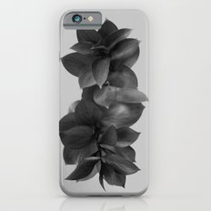 GREEN FOLIAGE BLACK on GREY iPhone 6s Slim Case