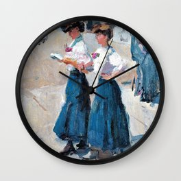 Midinettes On The Place Vendome, Paris - Digital Remastered Edition Wall Clock