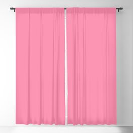From The Crayon Box – Inspired by Tickle Me Pink - Bright Pink Solid Color Blackout Curtain