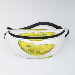 Lemon Slices White Fanny Pack