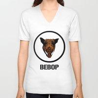 cowboy bebop V-neck T-shirts featuring Bebop | TMNT by Silvio Ledbetter
