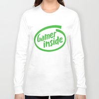 inside gaming Long Sleeve T-shirts featuring Gamer iNSIDE by Blondie & Black Boy