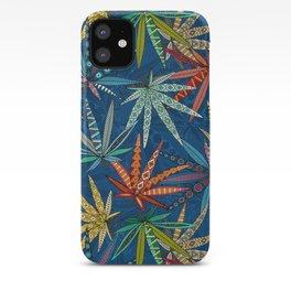 boho weed classic blue iPhone Case