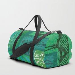 Vintage Hawaian Tapa Print Duffle Bag