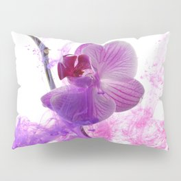 Abstract pink orchid Pillow Sham