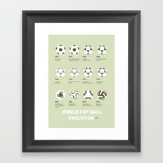 My Evolution Soccer Ball minimal poster Framed Art Print