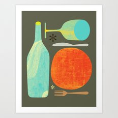 Wine & Dine Kitchen Art Art Print