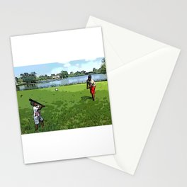 Ball with dad Stationery Cards