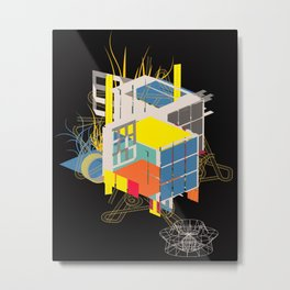 rubik's building - vienna 2044 - 4 colors version Metal Print
