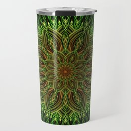 Earth Flower Mandala Travel Mug