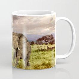 Elephant Landscape Collage Coffee Mug