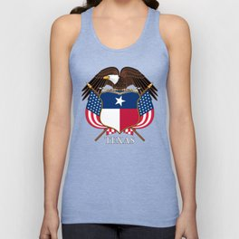 Texas flag and eagle crest concept Unisex Tank Top