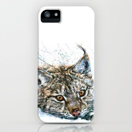 Lynx Wild and Free iPhone Case