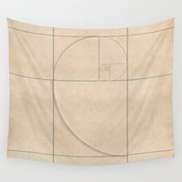 fibonacci Wall Tapestries featuring Golden Folding by Melek Design