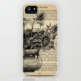 Pride & Prejudice, Chapter XLIII: Sunflowers iPhone Case
