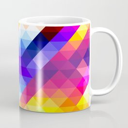 Abstract Colorful Decorative Squares Pattern Coffee Mug