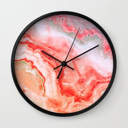 Luxury Rose Gold Agate Marble Geode Gem Wall Clock