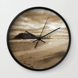 Footsteps In The Sand Wall Clock