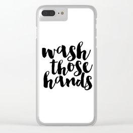 Bathroom art Bathroom sign Printable Hand lettered Nursery Decor kids Bathroom Wall art Print Clear iPhone Case