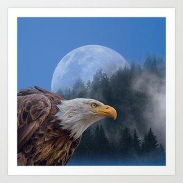 Bald Eagle Montage Art Print