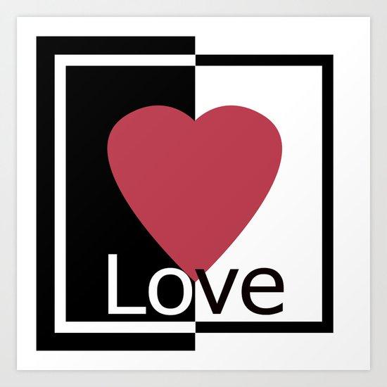 Love .Gift design. Art Print