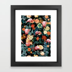 Floral and Flemingo II Pattern Framed Art Print