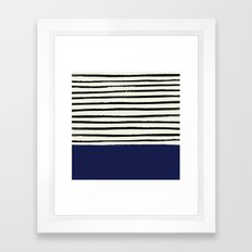 Navy x Stripes Framed Art Print