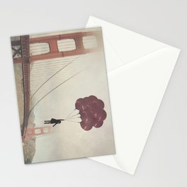 Floating over the Golden Gate Stationery Cards