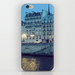 Paris by Night: Ile de la Cite iPhone Skin