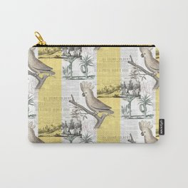 Vintage Tropical Cockatoo Pattern Carry-All Pouch