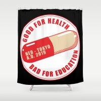 akira Shower Curtains featuring Good Medecine by DarkChoocoolat