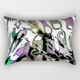Distortion of the line Rectangular Pillow