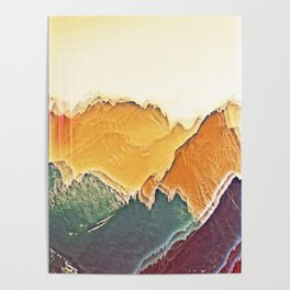 colour mountain Poster