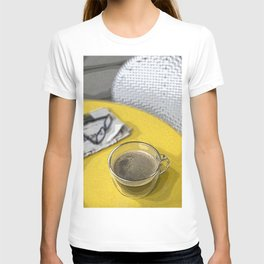 Coffee on Yellow Table T-shirt