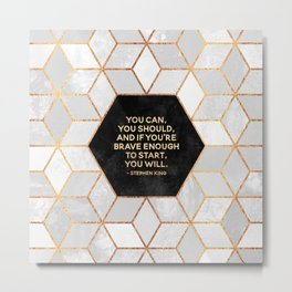 If you're brave enough / Design Milk Collab. Metal Print