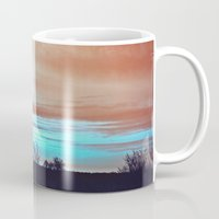 night sky Mugs featuring Night sky by J's Corner