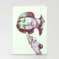 leon Stationery Cards featuring leon - mathilda  by Doruktan Turan