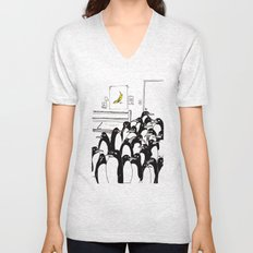 penguins in the bedroom Unisex V-Neck