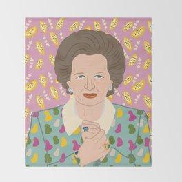 Margaret Thatcher Throw Blanket
